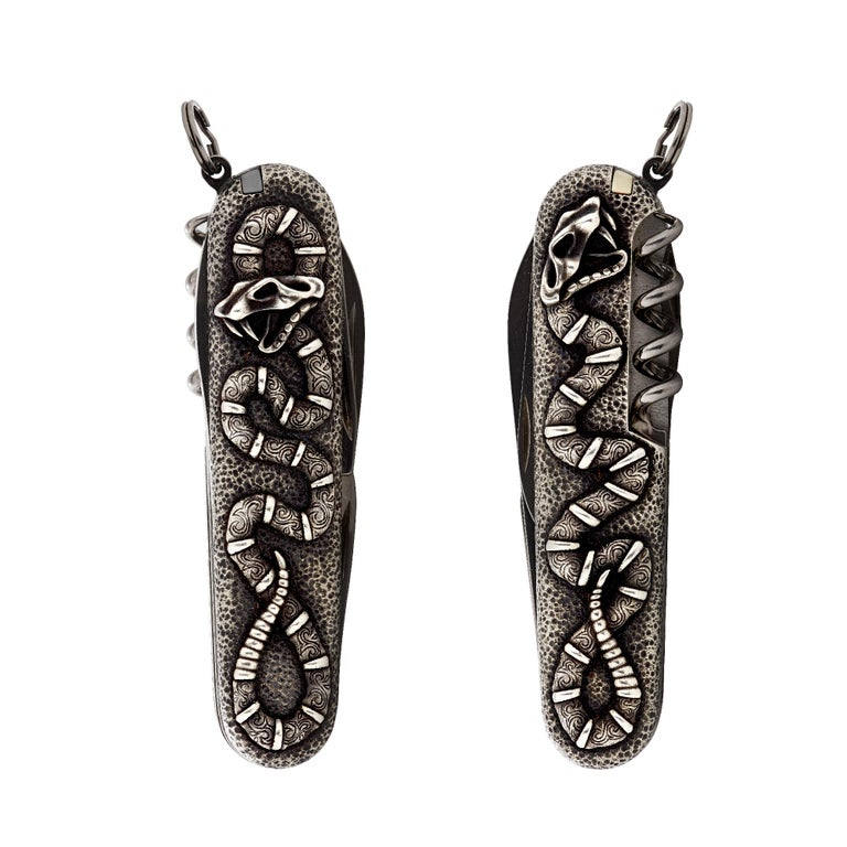 Stephen Webster Tequila Lore Sterling Silver Snake Swiss Army Knife In New Condition For Sale In London, GB