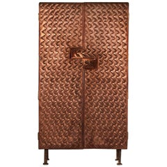 Steppes Copper Armoire, Signed by Michael Gittings