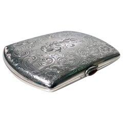 Sterling Silver Cigarette or Card Case, American, circa 1920