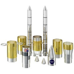 Sterling Silver USA Ares V-Space Shuttle Tequila Shot Set and Case
