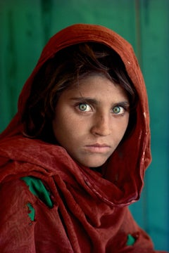 Afghan Girl, Peshawar, Pakistan, 1984 - Portrait Photography, Colour Photography
