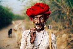 Rabari Shepherd, Rajasthan, India, 2009 - Colour Photography