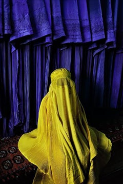 Woman in Canary Burqa, Afghanistan, 2002