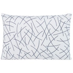 Stringart Pillow in White and Gray by CuratedKravet