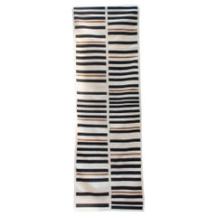 Striped Brynn Handwoven Modern Wool Rug, Carpet and Durrie
