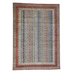 Super Kazak Shawl Design Hand Knotted Pure Wool Oriental Rug