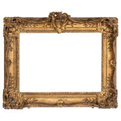 Superb Louis XV Period, Carved Giltwood Frame or Mirror France, Mid-18th Century