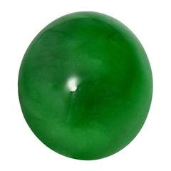 Supreme Jade 6.19 Carat Oval Cabochon