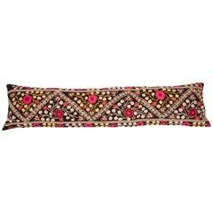 Suzan Lumbar Pillow Case Fashioned from a Mid-20th Century Uzbek Suzani