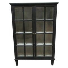 Swedish Gustavian Glass Door Sideboard