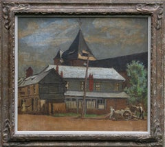 Envermeu France - British art oil painting Normandy village female artist