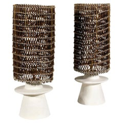 Table Lamps After Jean-Michel Frank, circa 1980, France