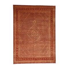 Tabriz Mahi Wool and Silk Handmade Tone on Tone Overdyed Rug