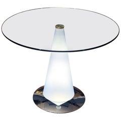 Tavolo Birillo Illuminated End Table Lamp Fontana Arte Art Glass Lamp Light