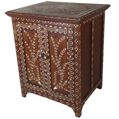Teak Cabinet with Intricate Inlay, Mid-1900s