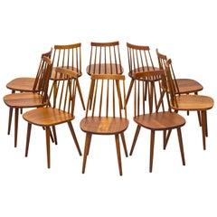 "Teak Dining Chairs ""Pinnockio"" by Yngve Ekström for Stolab, Sweden, 1950s"