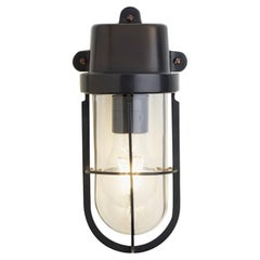 Tekna Admiral Wall Light in Dark Bronze Brass Finish with Clear Glass