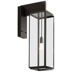 Tekna Ilford Wall Light on Bracket 700 with Dark Bronze Finish and Clear Glass