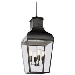 Tekna Montrose Large-C Pendant Light with Dark Bronze Finish and Clear Glass