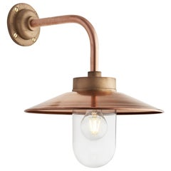 Tekna Quay 90° Wall Light with Copper Finish and Clear Glass