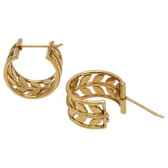 Temple St. Clair 'Tree of Life' Gold Vine Earrings