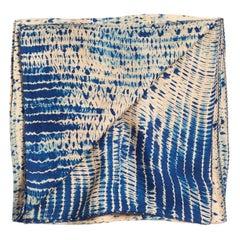 TESU Indigo  Silk  Scarf / Wrap