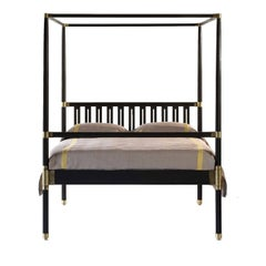 Campaign Four-Poster Bed