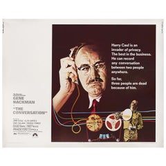 """The Conversation"" 1974 U.S. Half Sheet Film Poster"