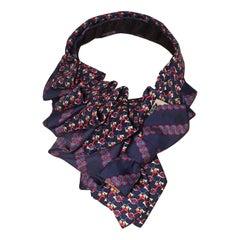 The Irresistible Ascot Vintage Hermes & Neiman Marcus Silk Tie Necklace