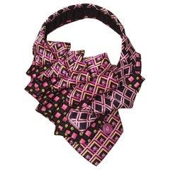 The Irresistible Ascot Vintage Versace Pink Silk Tie Necklace