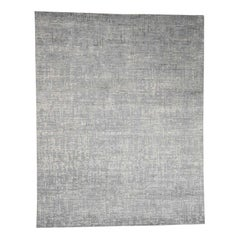 Matrix Pure Silk with Oxidized Wool Tone on Tone Hand Knotted Rug