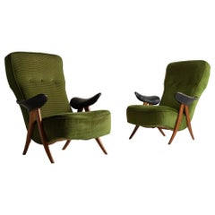 Theo Ruth Model 105 Armchairs