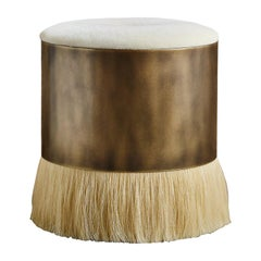 Thing 4 Stool with Antique Brass and Horse Hair