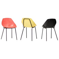 Three Coquillage Chairs by Pierre Guariche
