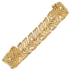 Tiffany and Co. Diamond and Yellow Gold Bracelet, 18 Karat Yellow Gold, Italy