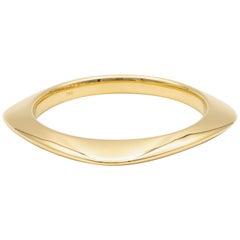 Tiffany & Co. 18 Karat Gold Square Cushion Shape Bangle