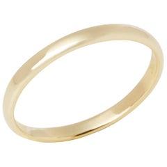 Tiffany & Co. 18 Karat Yellow Gold Court Wedding Band