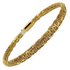 Tiffany & Co. 18 Karat Yellow Gold Flex Weave Ladies Bracelet