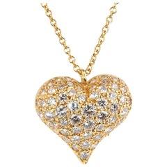 Tiffany & Co. Diamond Heart Gold Necklace