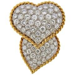 Tiffany & Co. Diamond Platinum Gold Brooch