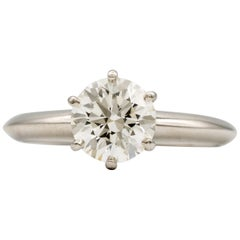 Tiffany & Co. Engagement Ring with 1.28 Carat Centre in Platinum ($18,200)