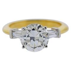 Tiffany & Co GIA 3.03 Carat I VS1 Diamond Platinum Engagement Ring