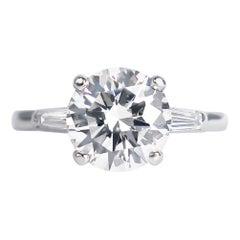 Tiffany & Co. GIA Certified 2.54 Carat E VS1 Brilliant Round Diamond Ring