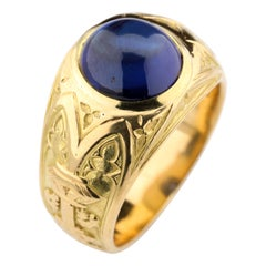 Tiffany & Co. Gilded Age Men's Sapphire Ring as Featured in the New York Times
