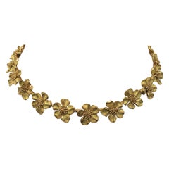 Tiffany & Co. Gold Dogwood Flower Necklace