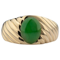 Tiffany & Co. Men's Jadeite Jade Ring GIA Certified