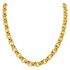 Tiffany & Co. Vintage 18 Karat Yellow Gold Substantially Linked Chain Necklace