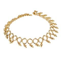 Tiffany & Co Vintage Beaded Yellow Gold Bracelet