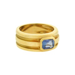 Tiffany & Co. Vintage Sapphire Wide Band Ring