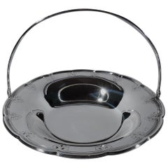 Tiffany Edwardian Modern Sterling Silver Basket Bowl